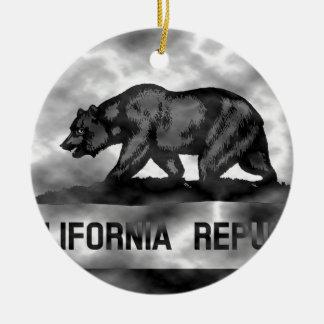 血しょうカリフォルニア旗 セラミックオーナメント