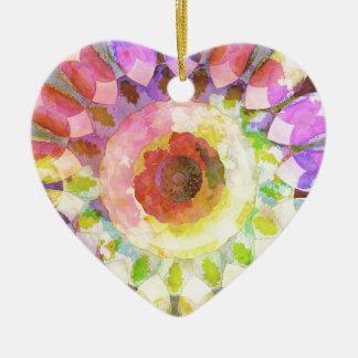 血しょうピンクの鋳造物の万華鏡のように千変万化するパターンやっとそこに セラミックオーナメント