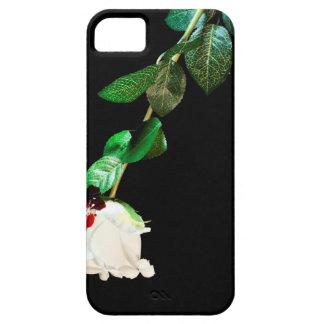血で覆われる白いバラ iPhone 5 カバー
