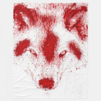 血のオオカミのファンタジーの野性生物の芸術のフリースブランケット フリースブランケット