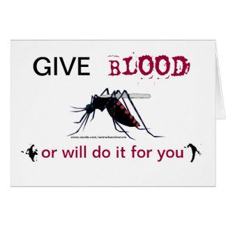 血のカの挨拶状を与えて下さい カード