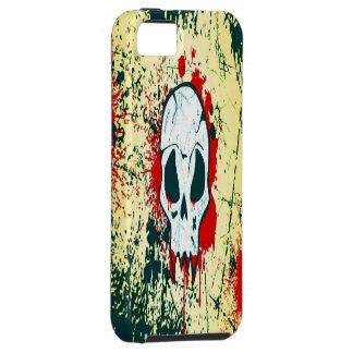 血のスカルのiPhone 5の場合または堅い iPhone 5 Case-Mate ケース
