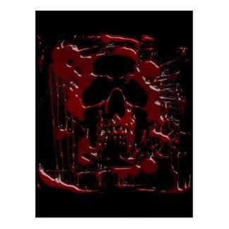 血のスカル ポストカード