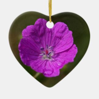 血のゼラニウムの花 セラミックオーナメント