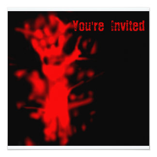 血のハローウィンパーティの招待状 カード