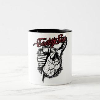 血のハート ツートーンマグカップ