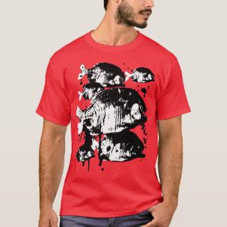 血のピラニア Tシャツ
