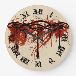 血のモチーフ ラージ壁時計
