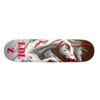 血のユニコーンLOLZ板 20CM スケートボードデッキ