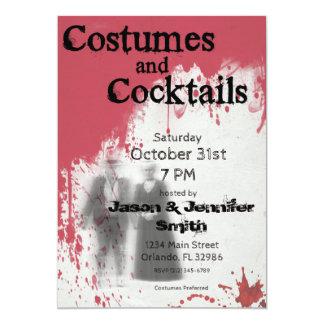 血の幽霊の大人のハローウィンパーティの招待状 カード