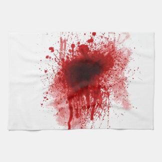血の散弾銃の傷 キッチンタオル