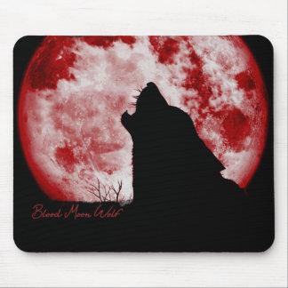 血の月のオオカミマウスのパッド マウスパッド