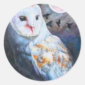 血の月の下のフクロウ ラウンドシール