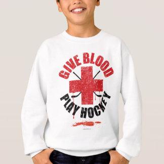 血の演劇のホッケーv1を与えて下さい スウェットシャツ