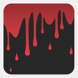 血の点滴注入 スクエアシール