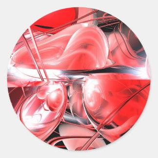 血の狂気の抽象芸術のステッカー ラウンドシール