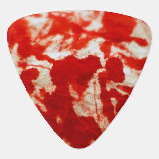 血の(ばちゃばちゃ)跳ねるのハートのギターの一突き ギターピック