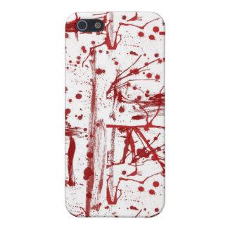 血の(ばちゃばちゃ)跳ねるのiphoneカバー iPhone 5 カバー