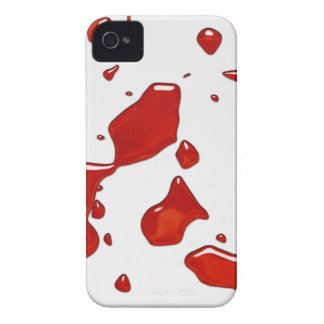 血の(ばちゃばちゃ)跳ねるのiphone 4ケース Case-Mate iPhone 4 ケース