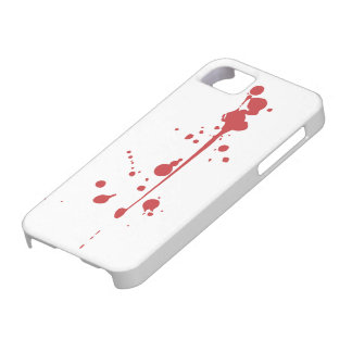 血の(ばちゃばちゃ)跳ねるのiPhone 5の場合 iPhone 5 Cover