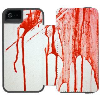血のiPhoneの場合 Incipio Watson™ iPhone 5 ウォレット ケース