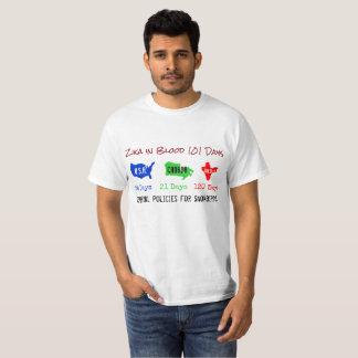 血のZika RoseWrites著101日のワイシャツ Tシャツ