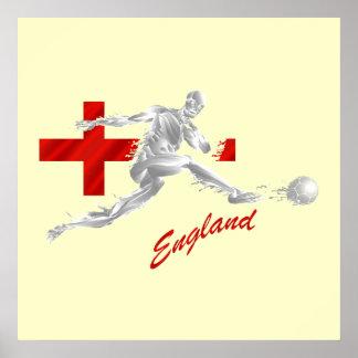 血はイギリス-フットボールのファンのギフト発汗し、 ポスター