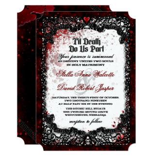 血はハロウィンの結婚式招待状をはね飛ばしました カード