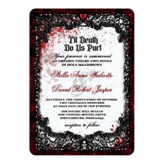 血はハロウィンの結婚式招待状をはね飛ばしました 12.7 X 17.8 インビテーションカード