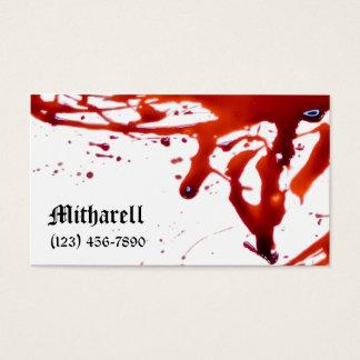 血は名刺をはね飛ばしました 名刺