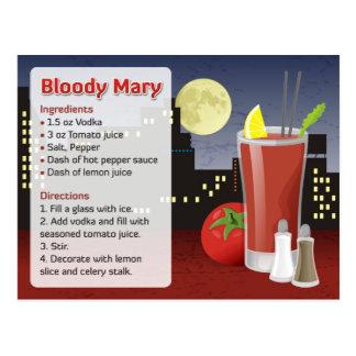 血メリーのレシピカード ポストカード