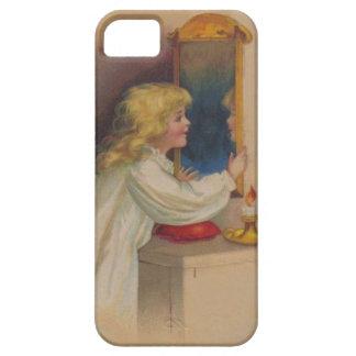 血メリーの鏡のかわいい小さな女の子 iPhone SE/5/5s ケース