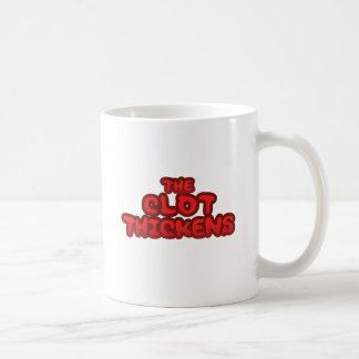 血塊は厚くなります コーヒーマグカップ
