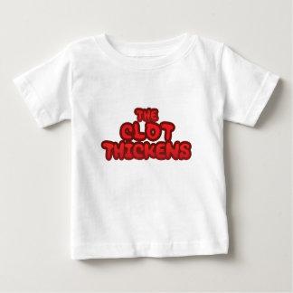 血塊は厚くなります ベビーTシャツ