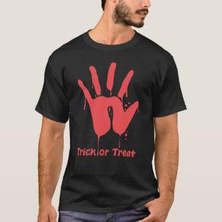 血手のプリントの暗闇のTシャツ Tシャツ