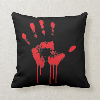 血手のプリントの枕 クッション