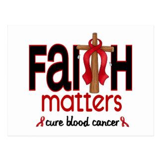 血液の癌の信頼の問題の十字1 ポストカード