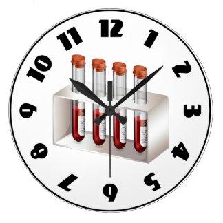 血液サンプルの時計 ラージ壁時計