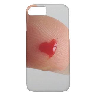 血液検査のハート iPhone 7ケース