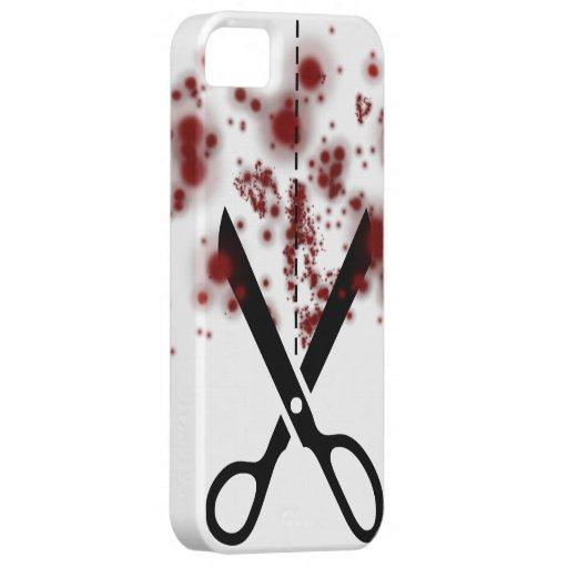 血 はさみ iPhone 5 Case-Mate ケース