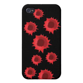 血|弾丸|穴|iPhone|場合 iPhone 4 カバー