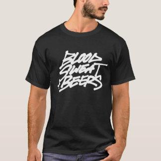 血、汗 + ビール Tシャツ