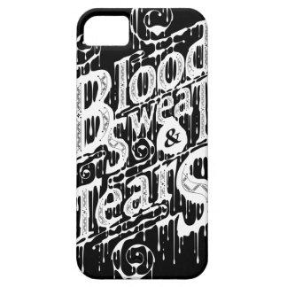 血、汗、及び破損- Iphone 5/5Sの場合(黒) iPhone 5 Case
