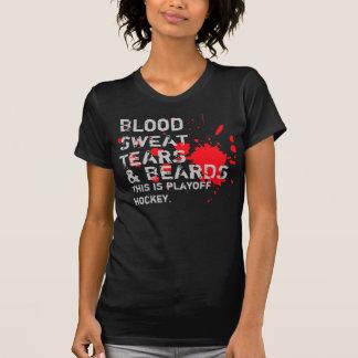 血、汗、破損及びひげ Tシャツ