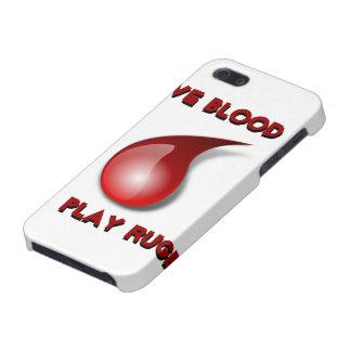 血、演劇のラグビーを与えて下さい iPhone 5 ケース