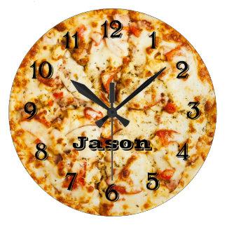 行くこと準備ができた時間通りにピザ ラージ壁時計