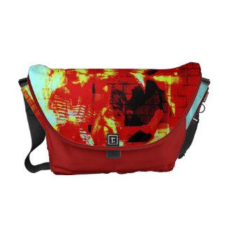 行く幾日からのデジタルコラージュのバッグの幽霊 メッセンジャーバッグ