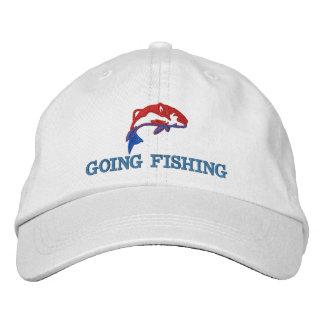 行く採取のfishermans 刺繍入りキャップ