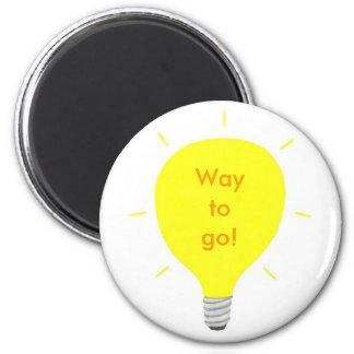 行く方法! 前向きな断言の電球の磁石 マグネット