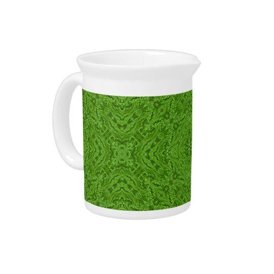 行く緑のカラフルな水差し ピッチャー